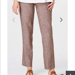 J Jill Love Linen Petite Ankle Pants